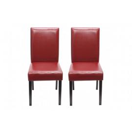 Chaise de salle à manger lot de 2 SANTORINI rouge