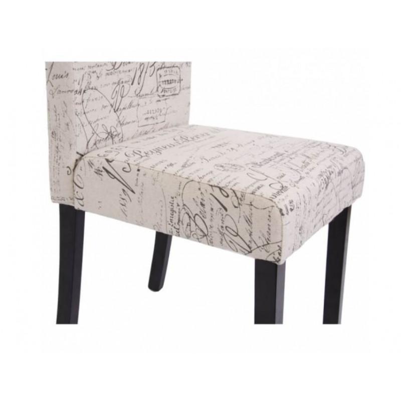 Chaise de salle manger lot de 2 otta pieds fonc s for Chaise 2 pieds