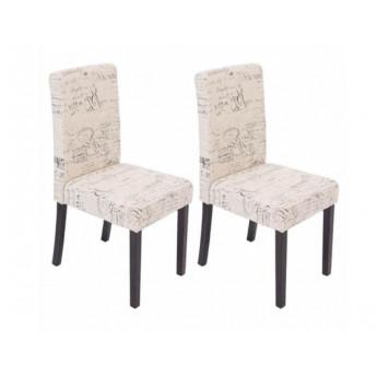 Chaise de salle à manger lot de 2 OTTA Pieds foncés - MYCO00946
