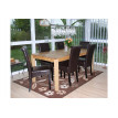 Chaise de salle à manger lot de 2 FLORENCE cuir brun - MYCO00950