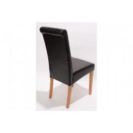Chaise de salle à manger lot de 2 FLORENCE cuir Brun - MYCO00952