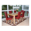Chaise de salle à manger lot de 2 FLORENCE cuir crème - MYCO00953