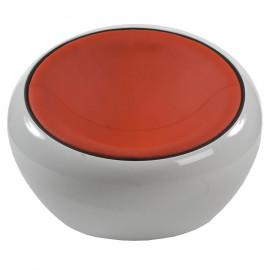 Fauteuil design JUPITER Rouge et Blanc