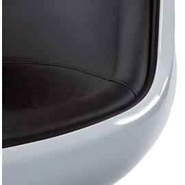 Fauteuil design HARLOW Noir et Blanc