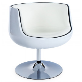 Fauteuil design HARLOW Blanc