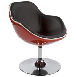 Fauteuil design DAYTONA Rouge et Noir