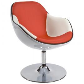 Fauteuil design DAYTONA Blanc et Orange