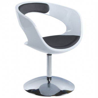 Fauteuil design KIRK Blanc et Noir