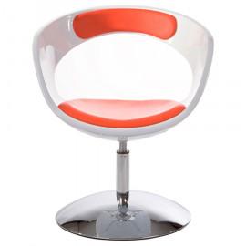 Fauteuil design KIRK Blanc et Rouge