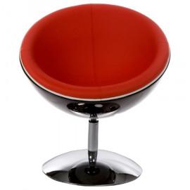 Fauteuil design SPHERE Noir et Rouge