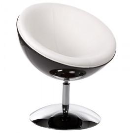 Fauteuil design SPHERE Noir et Blanc