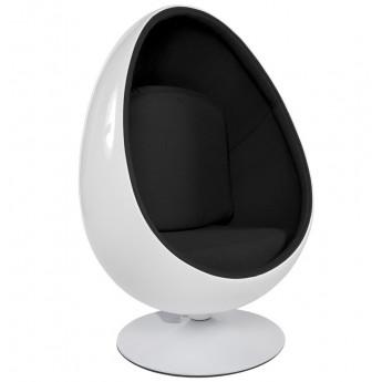 Fauteuil design UOVO Blanc et Noir
