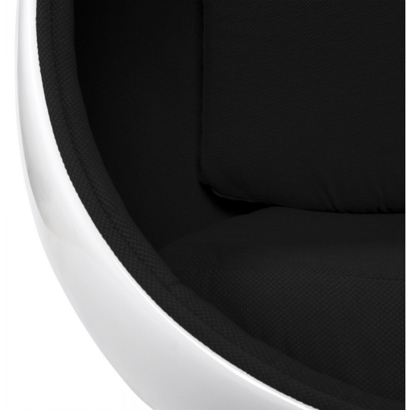 fauteuil design uovo blanc et noir. Black Bedroom Furniture Sets. Home Design Ideas
