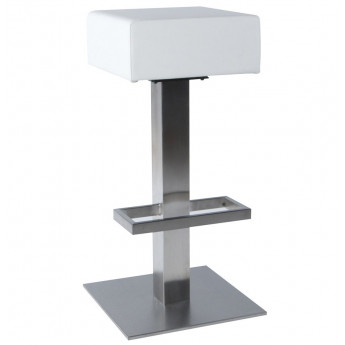 Tabouret de bar design NOBLE Blanc