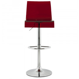 Tabouret de bar design PLEXI Rouge