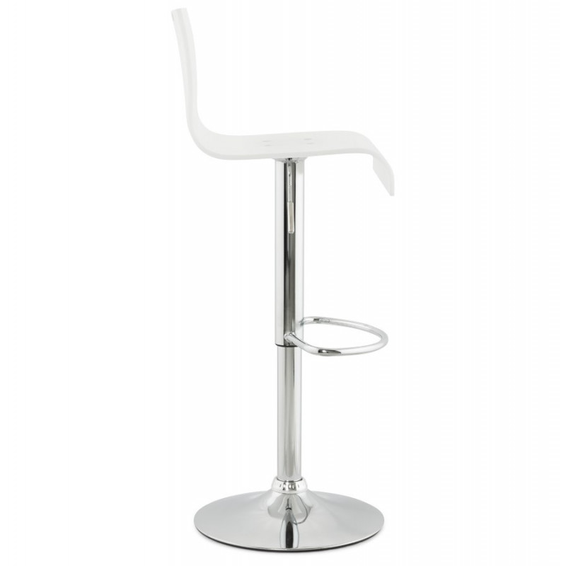 tabouret de bar design plexi blanc. Black Bedroom Furniture Sets. Home Design Ideas
