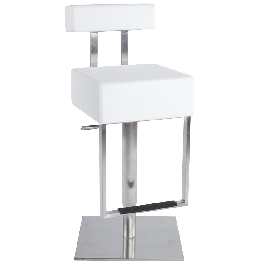 tabouret de bar design cubo blanc