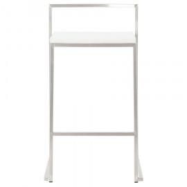 Tabouret de bar design METO Blanc